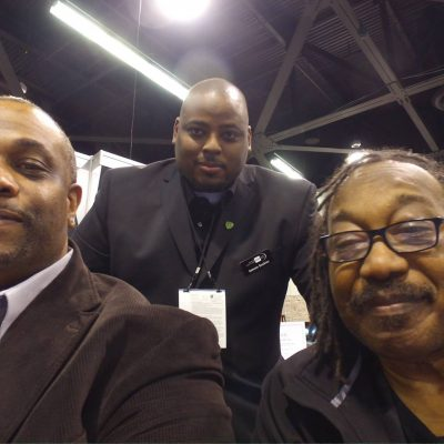 "Chris ""Godxilla"" Taylor working with Antonio ""Dunk"" Dawkins and Danny Leake at NAMM"